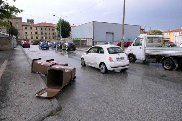 Allagamenti in Piazza D'armi (Foto Emma)