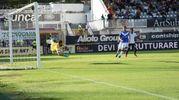 Spezia-Brescia, Pierini realizza il gol del 2-1 (foto Lapresse)