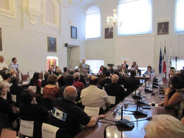 Urbino, il consiglio comunale per Marica Branchesi (Foto Lara Ottaviani)