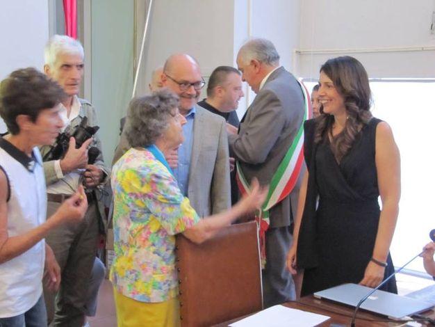Urbino, Marica Branchesi salutata dai concittadini (Foto Lara Ottaviani)