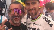 Scarpellini con il campione mondiale di ciclismo su strada Peter Sagan