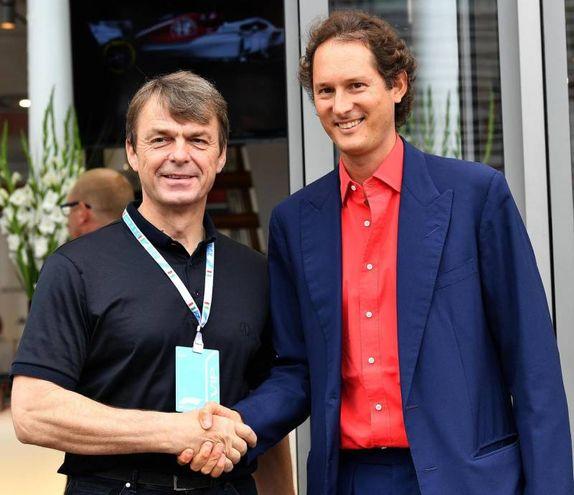 John Elkann con Michael Manley