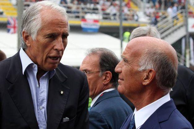 Il presidente del Coni Giovanni Malagò con Angelo Sticchi Damiani, presidente Aci