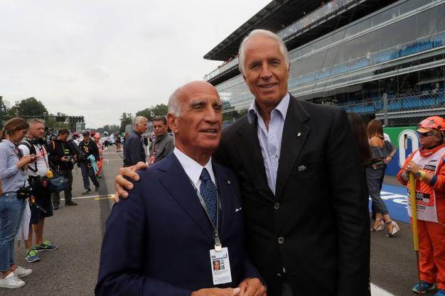 Angelo Sticchi Damiani, presidente di Aci, con il presidente del Coni Giovanni Malagò