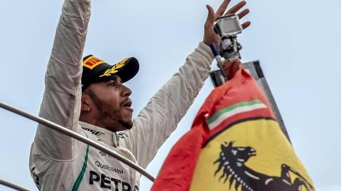Gp Monza 2018, Lewis Hamilton (Ansa)