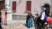 La chiamata alla colonna nell'ambito della festa dell'Ospitalità (foto Frasca)