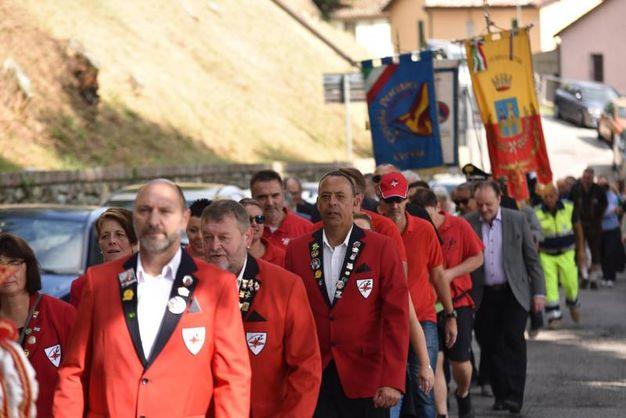 Le delegazioni dei comuni gemellati o amici di Bertinoro provenienti da Germania, Austria, Svezia e Francia (foto Frasca)