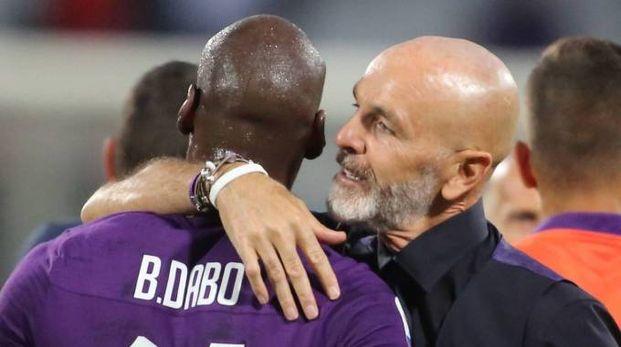 Il tecnico Pioli in Fiorentina-Udinese (Fotocronache Germogli)