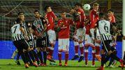 Un momento del match