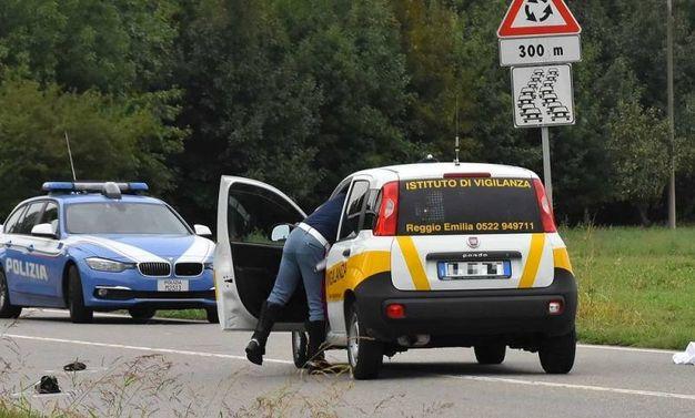 La scena del terribile incidente (foto Artioli)