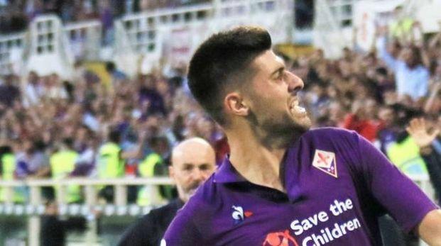 L'esultanza di Benassi per il gol contro l'Udinese (Fotocronache Germogli)