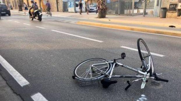 La bicicletta travolta