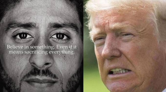 Colin Kaepernick (a sx) e Donald Trump (Twitter/Ansa)