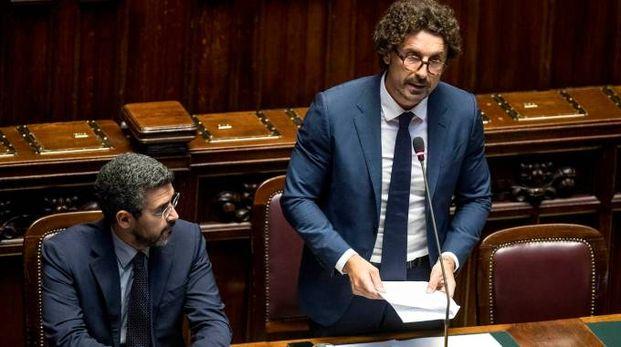 Danilo Toninelli riferisce in Aula (LaPresse)
