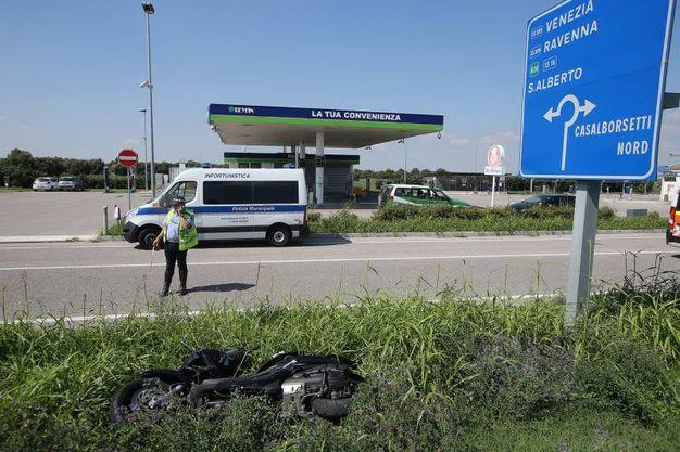 Il luogo dell'incidente  (Foto Zani)