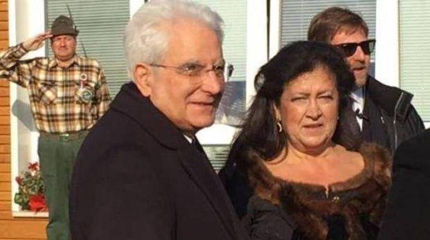 La preside Patrizia Palanca durante  una visita del presidente della Repubblica