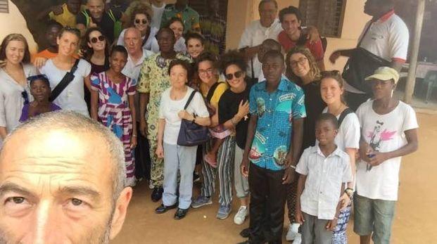 Don Donato Agostinelli in uno dei suoi viaggi in Africa
