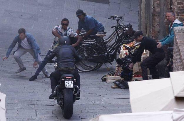 """Le riprese di """"6 Underground"""" a Siena (foto Paolo Lazzeroni)"""
