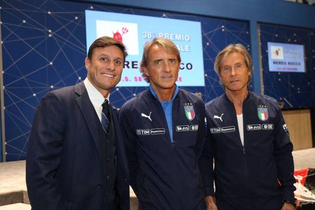 Da sinistra Zanetti, Mancini e Oriali (Fotocronache Germogli)
