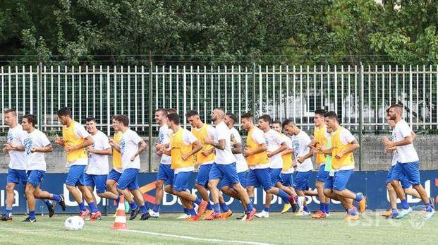 La squadra biancazzurra ha ripreso gli allenamenti in vista del terzo turno di serie B