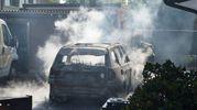 L'auto carbonizzata (Lapresse)