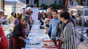La Festa de' Borg è anche buon cibo, con le proposte delle varie osterie allestite per l'occasione e i menù speciali dei ristoranti e locali del borgo (Foto Fabrizio Petrangeli)
