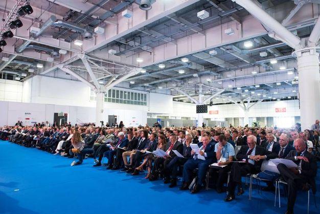 L'assemblea pubblica di Confindustria Emilia area Centro ha aperto la settima edizione di Farete a Bologna Fiere (Foto Schicchi)