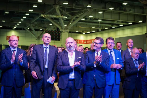 Vincenzo Boccia, Alberto Vacchi, Stefano Bonaccini, Virginio Merola (Foto Schicchi)