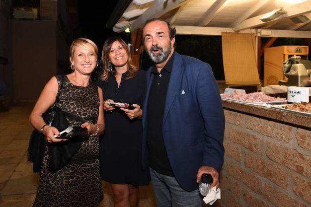 Federica Palumbi, figlia dello storico presidente della Effe, con Roberto Melloni, presidente della Fondazione Fortitudo (foto Schicchi)