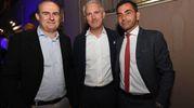 Paolo Pedrini di Radio Bologna International, Stefano Bettinardi del salumificio Villani e Matteo Naldi di Lavoro Più (foto Schicchi)