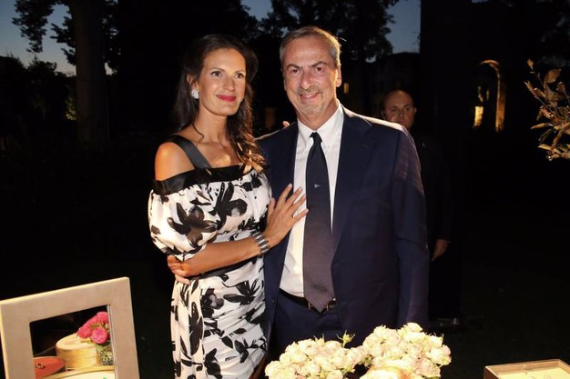 Veronica Bocelli con l'ad di Vhernier Carlo Traglio
