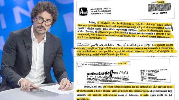 Danilo Toninelli e le lettere ricevute dall'Aiscat