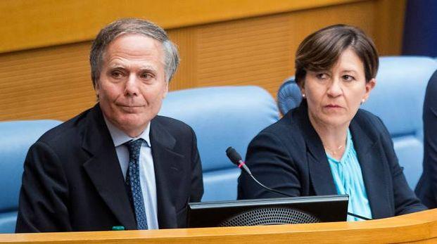 Enzo Moavero Milanesi e Elisabetta Trenta in audizione (LaPresse)