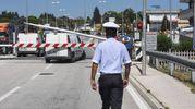 Civitanova, incidente sul passaggio a livello (foto De Marco)