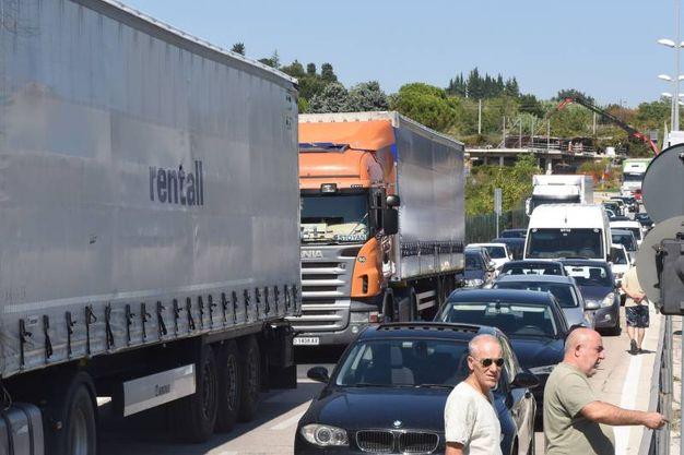 In tilt la viabilità nella zona diretta verso l'autostrada A14 (foto De Marco)