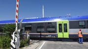 Il convoglio costretto a fermarsi era partito dalla stazione di Civitanova, diretto a Macerata (foto De Marco)