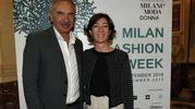 Carlo Capasa e Cristina Tajani alla presentazione della Milano Fashion Week (ImagoE)