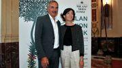 Carlo Capasa e Cristina Tajani alla presentazione della Milano Fashion Week (Omnimilano)