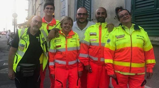 La squadra Svs che è intervenuta ieri pomeriggio a Tirrenia