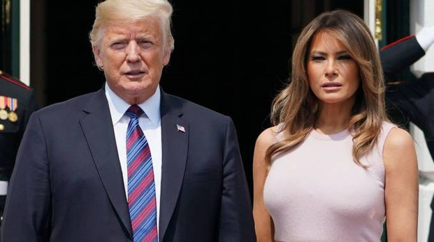 Donald Trump e la First Lady, Melania (Afp)