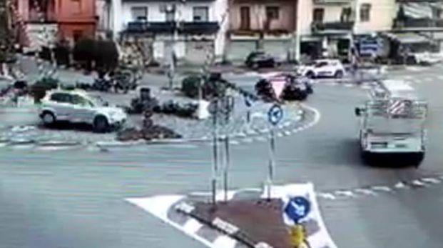Un fotogramma del video dell'incidente mortale