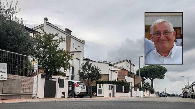 Il luogo della tragedia e, nel riquadro, Bruno Rovai (Fotocronache Germogli)