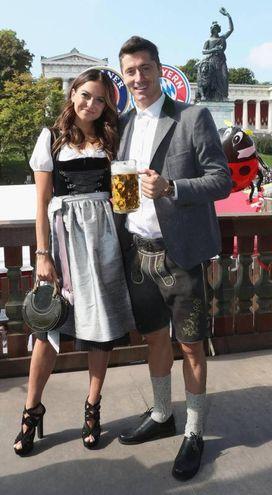 Robert e Anna Lewandowski (Ansa)