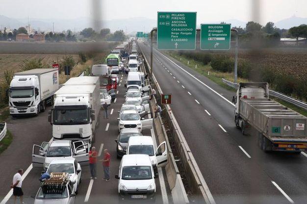 L'autostrada A13 è stata chiusa (Foto Schicchi)