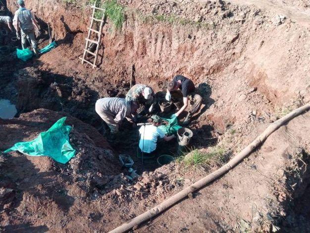 Fasi di scavo nello scorso mese di luglio