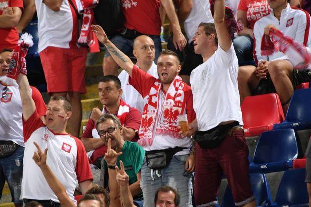 I tifosi polacchi a Bologna (foto Schicchi)