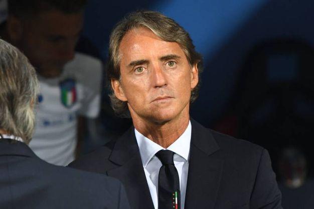 La tensione di Mancini ad inizio gara (foto Schicchi)