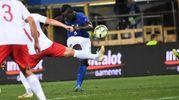 Mario Balotelli, applaudito e fischiato (foto Schicchi)
