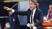 L'esultanza di Mancini (foto Schicchi)
