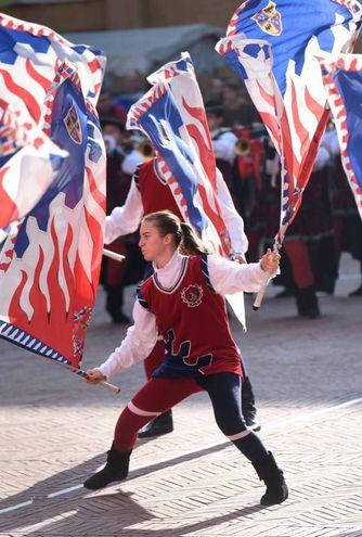 Il campionato nazionale delle bandiere (foto Businesspress)